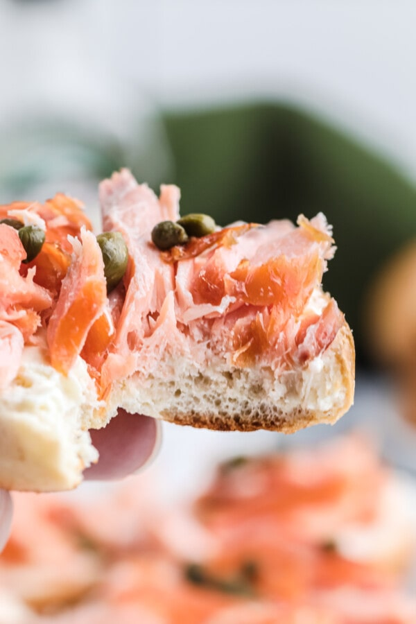 What cheese goes with smoked salmon