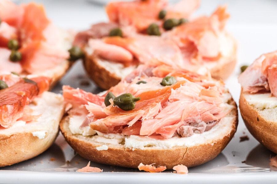 Salmon Cream Cheese Bagel