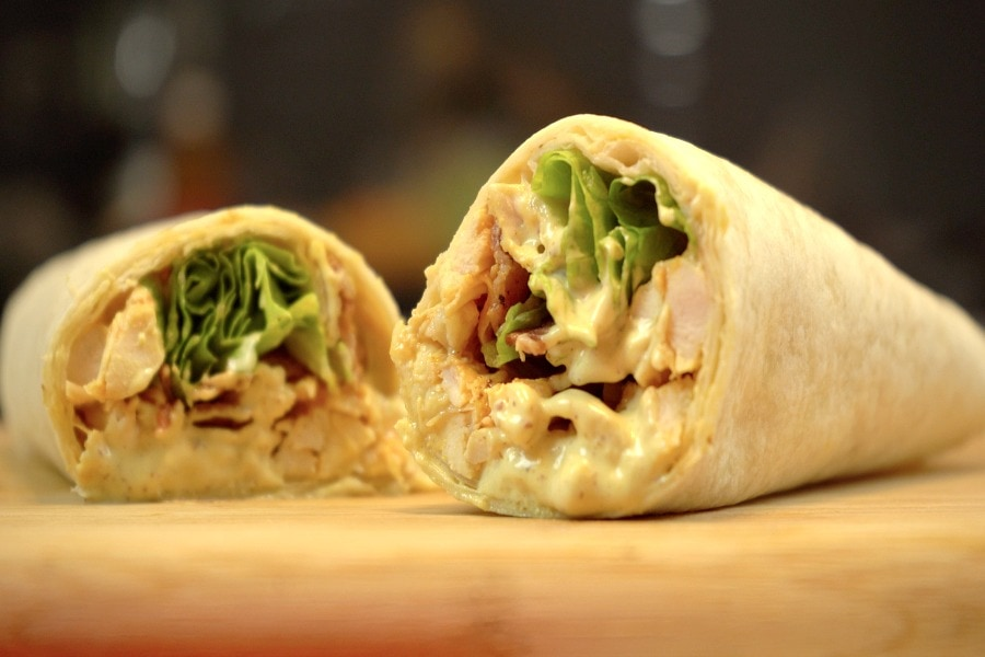 Subway Chicken Caesar Wrap Copycat