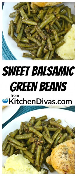 This is another fabulous green bean recipe that we make regularly, even when beans are out of season! The honey blends so well with the balsamic vinegar and garlic. Delicious. ThisSweet Garlic Balsamic Green Beansrecipe you have to try. I know you will make it over and over again.is a recipe you have to try. I know you will make it over and over again.  https://kitchendivas.com/sweet-garlic-balsamic-green-beans/