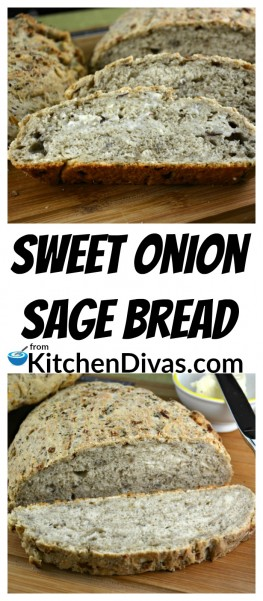 This incredible Sweet Onion Sage Bread recipe was given to me by my friend Lee who knows just how much I love stuffing, yes stuffing. The flavors in this amazing bread recipe remind me and taste very similar to stuffing and should be on your bucket list! This bread makes everything taste better, especially sandwiches!  https://kitchendivas.com/sweet-onion-sage-bread/