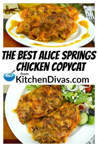This mess is whatThe Best Alice Springs Chicken Copycat really looks like! Every bite is worth it. I tried to make a version that would look better for the photo but decided in the end to go with what this dish really looks like. It is one of my favorite chicken dishes I make, and have for so long. I couldn't wait to share it.  https://kitchendivas.com/the-best-alice-springs-chicken-copycat/