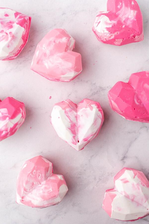 Valentine's Day Strawberry Hot Cocoa Bombs